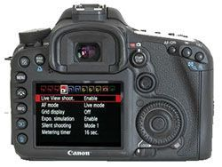 Display Canon EOS 7D